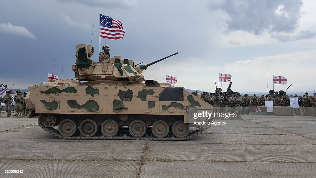 Georgia-United States-Britain-Russia joint military exercise : News Photo