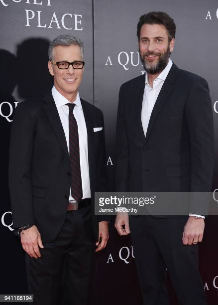 Bradley Fuller and Andrew Form attend the premiere for 'A Quiet Place' at AMC Lincoln Square Theater on April 2 2018 in New York City