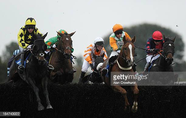Bradley Gibbs riding Changing Lanes on their way to winning The Amateur Jockeys' Association Amateur Riders' Handicap Steeple Chase at Ludlow...