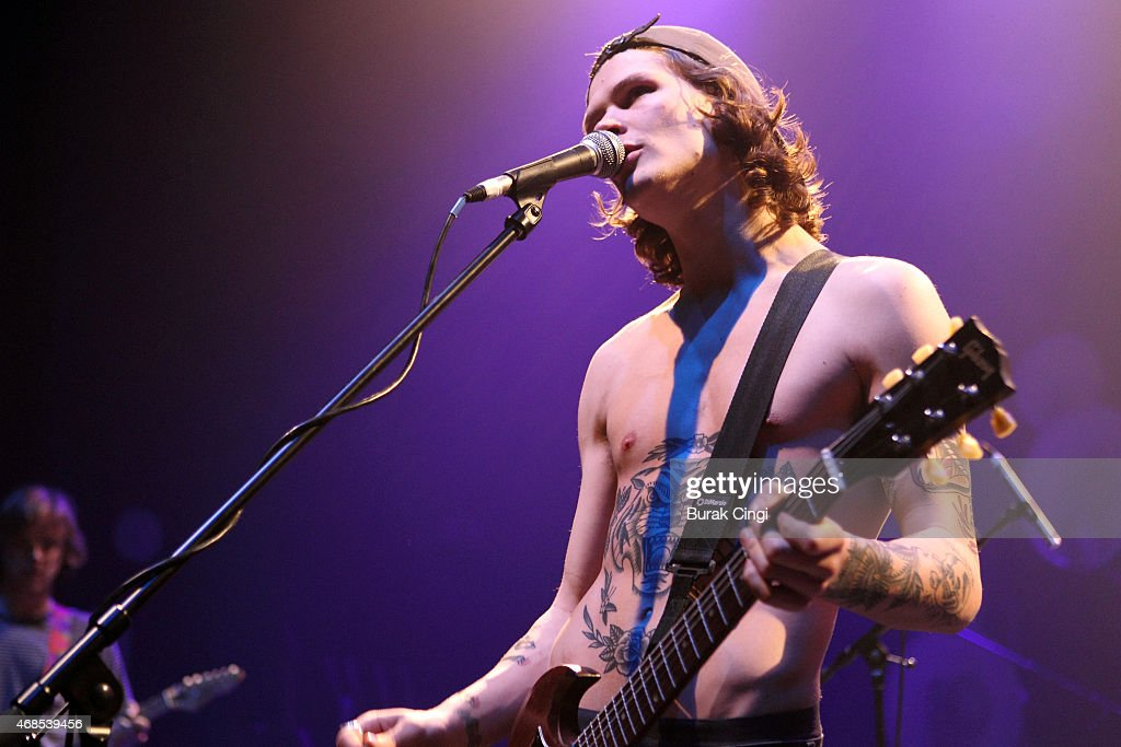 Bradley Griffiths of Bloody Knees performs on stage at O2 Shepherd's Bush Empire on April 3, 2015 in London, United Kingdom.