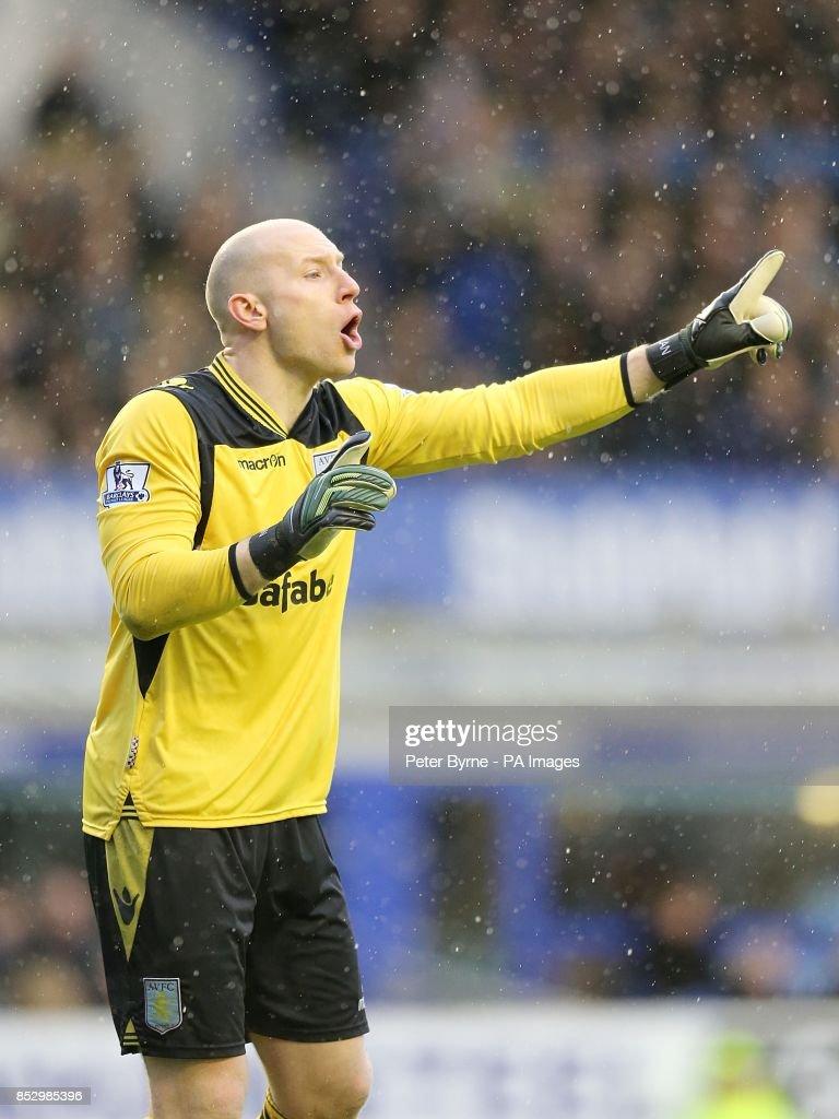 Soccer - Barclays Premier League - Everton v Aston Villa - Goodison Park : News Photo