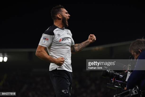Bradley Johnson of Derby celebrates during the Sky Bet Championship match between Derby County and Hull City at iPro Stadium on September 8 2017 in...