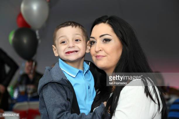 Bradley Lowery on his 6th birthday party with mum Gemma at Welfare Park Blackhall on May 19 2017 in Peterlee England