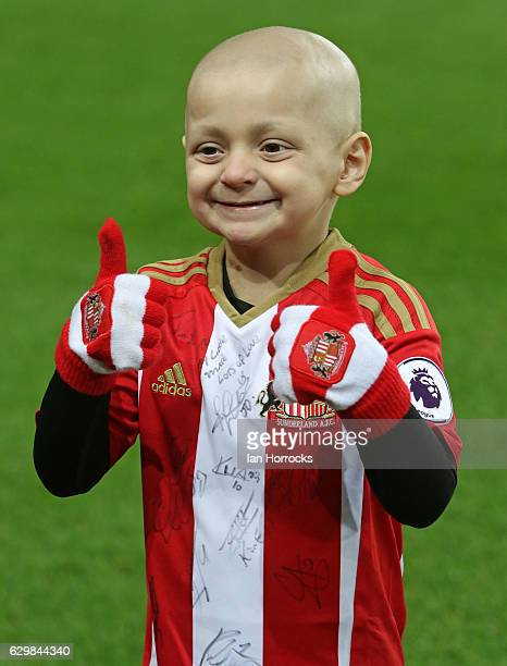Bradley Lowery prior to the Premier League match between Sunderland and Chelsea at Stadium of Light on December 14 2016 in Sunderland England