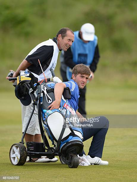 Bradley Neil of Blairgowrie during the final round of The Amateur Championship 2014 Day Seven at Royal Portrush Golf Club on June 22 2014 in Portrush...