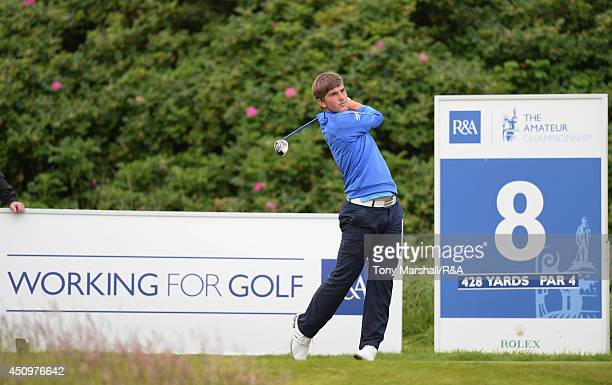 Bradley Neil of Blairgowrie during the quarter final round of The Amateur Championship 2014 Day Six at Royal Portrush Golf Club on June 21 2014 in...