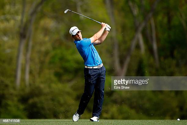 Bradley Neil of Scotland during a practice round prior to the start of the 2015 Masters Tournament at Augusta National Golf Club on April 6 2015 in...