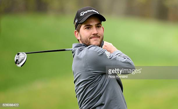Bradley Neil of Scotland during the first round of Challenge de Madrid at the Real Club de Golf La Herreria on April 28 2016 in Madrid Spain