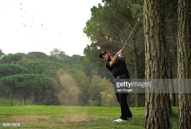 Bradley Neil of Scotland during the second round of the European Tour qualifying school final stage at PGA Catalunya Resort on November 13 2016 in...