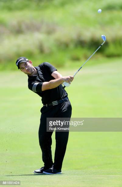 Bradley Neil of Scotland in action during a practice round prior to the AfrAsia Bank Mauritius Open at Heritage Golf Club on November 29 2017 in Bel...