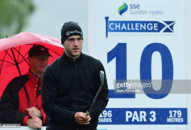 Bradley Neil of Scotland looks on at the 10th hole during the first day of the 2017 SSE Scottish Hydro Challenge hosted by MacDonald Hotels and...