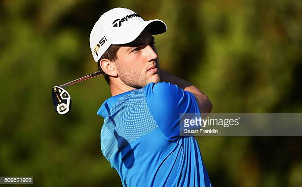 Bradley Neil of Scotland plays a shot during the first round of the Tshwane Open at Pretoria Country Club on February 11 2016 in Pretoria South Africa