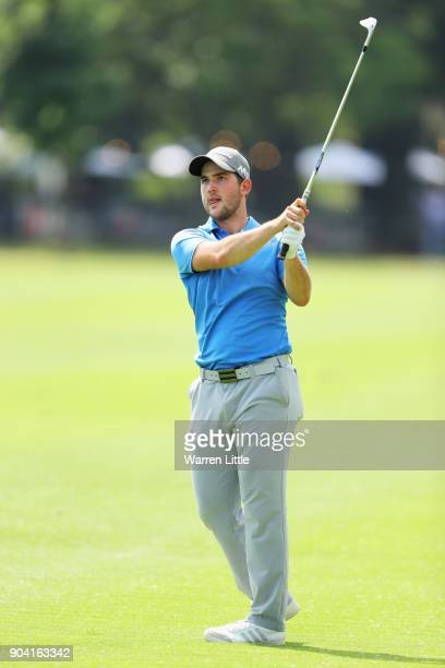 Bradley Neil of Scotland plays his third shot on the 16th hole during day two of the BMW South African Open Championship at Glendower Golf Club on...