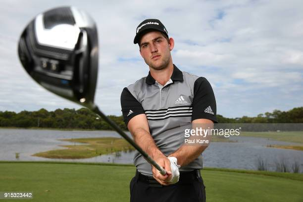 Bradley Neil of Scotland poses during the proam ahead of the World Super 6 at Lake Karrinyup Country Club on February 7 2018 in Perth Australia