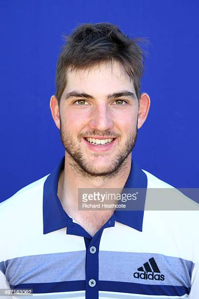 Bradley Neil of Scotland poses for a portrait after the first round of the European Tour Qualifying School Final at PGA Catalunya Resort on November...
