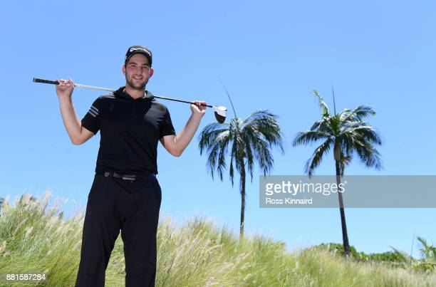 Bradley Neil of Scotland poses for a portrait during a practice round prior to the AfrAsia Bank Mauritius Open at Heritage Golf Club on November 29...