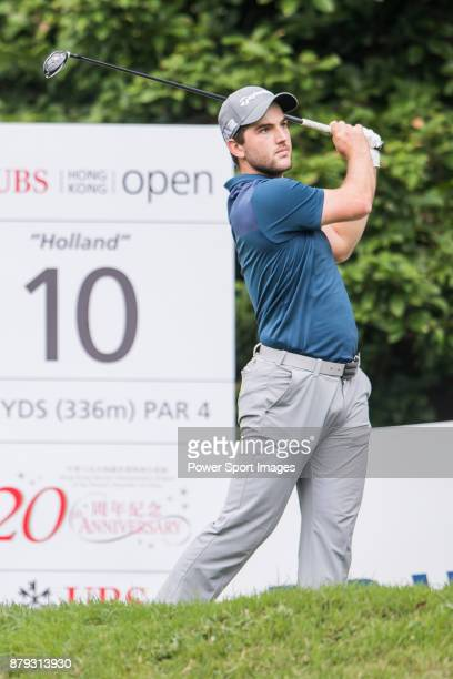 Bradley Neil of Scotland tees off during round four of the UBS Hong Kong Open at The Hong Kong Golf Club on November 26 2017 in Hong Kong Hong Kong