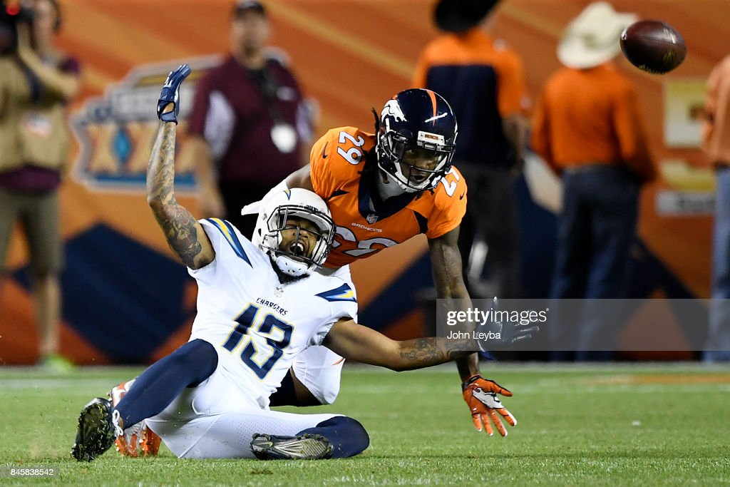 Denver Broncos vs. against the Los Angeles Chargers, NFL Week 1 : News Photo