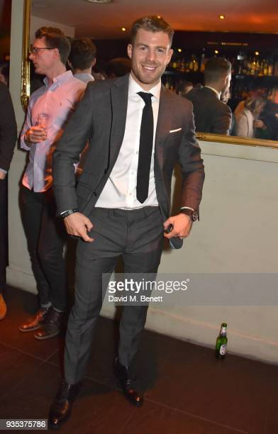 Bradley Simmonds attends the launch of new fitness book 'Get It Done My Plan Your Goal' by Bradley Simmonds at 100 Wardour St on March 20 2018 in...