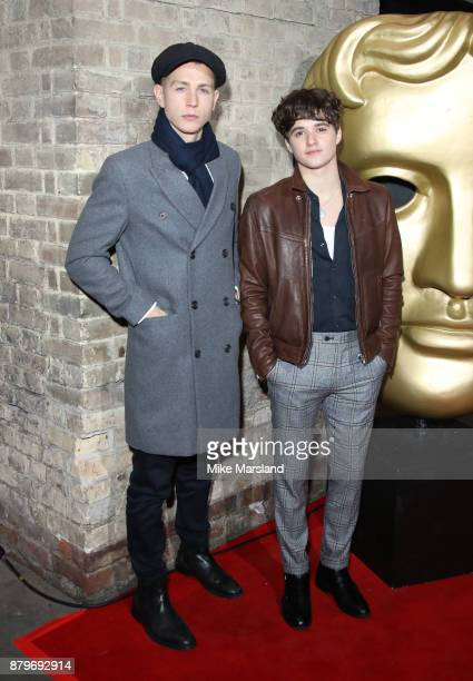 Bradley Simpson and James McVey of The Vamps attend the BAFTA Children's awards at The Roundhouse on November 26 2017 in London England