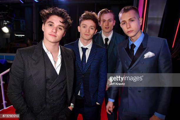 Bradley Simpson Connor Ball Tristan Evans and James McVey of The Vamps attend the MTV EMAs 2017 held at The SSE Arena Wembley on November 12 2017 in...