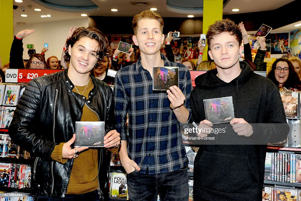 The vamps in store session at hmv sheffield photos and images bradley simpson james mcvey and connor ball of the vamps meet fans and sign copies m4hsunfo