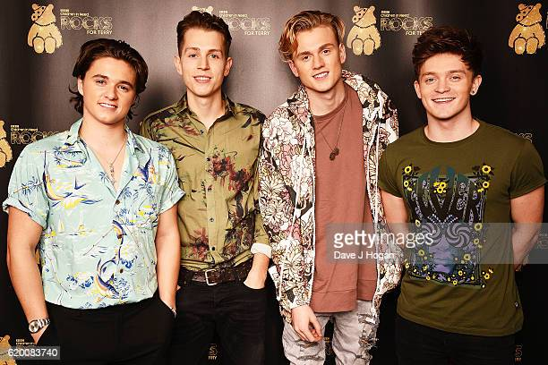 Bradley Simpson James McVey Tristan Evans and Connor Ball of The Vamps support BBC Children in Need Rocks for Terry at Royal Albert Hall on November...