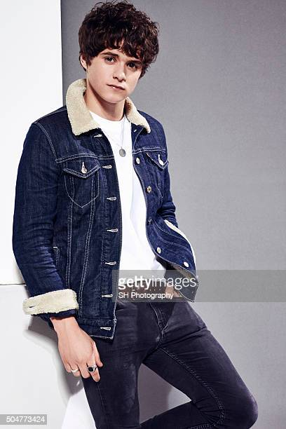 Bradley Simpson of pop band The Vamps is photographed for Notion magazine on October 23 2015 in London England