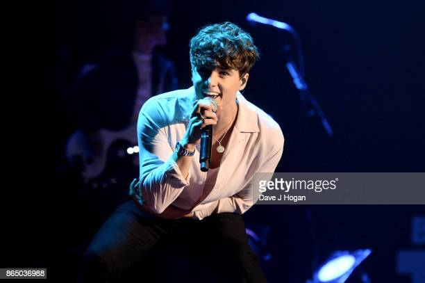 Bradley Simpson of The Vamps peforms on stage at the BBC Radio 1 Teen Awards 2017 at Wembley Arena on October 22 2017 in London England