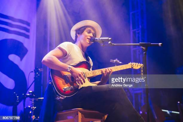 Bradley Simpson of The Vamps perform at O2 Academy Leeds on July 3 2017 in Leeds England