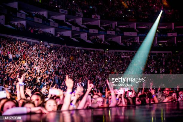 Bradley Simpson of The Vamps performs on stage at The O2 Arena on May 25 2019 in London England