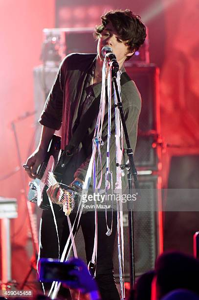 Bradley Simpson of the Vamps performs on stage at the Sixth Annual Nickelodeon HALO Awards in New York City The hourlong concert special will...