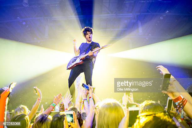 Bradley Simpson of The Vamps performs onstage at Nottingham Capital FM Arena on May 5 2015 in Nottingham England