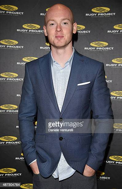 Bradley Smith attends a party for 'Rudy Project' 30th Anniversary Party during the 72nd Venice Film Festival at Granai dell'Hotel Cipriani on...