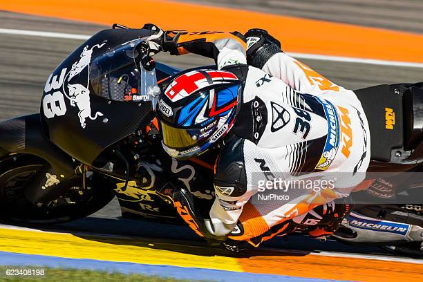 Bradley Smith from Great Britain of Red Bull KTM Factory Racing during the colective tests of Moto GP at Circuito de Valencia Ricardo Tormo on...