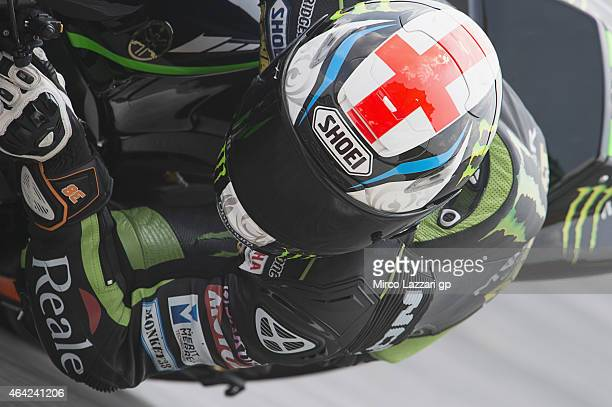 Bradley Smith of Great Britain and Monster Yamaha Tech 3 rounds the bend during the MotoGP Tests in Sepang Day One at Sepang Circuit on February 23...