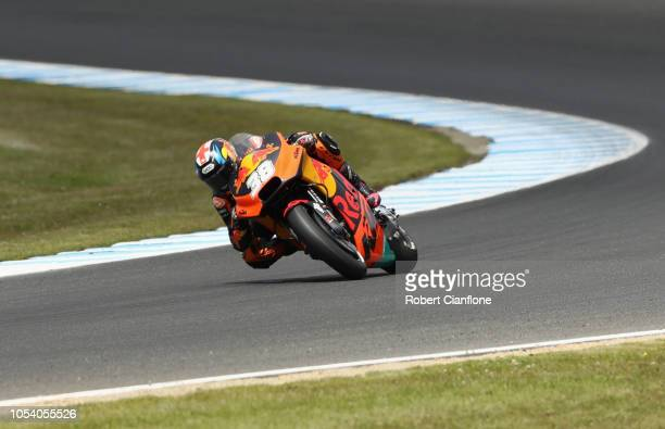 Bradley Smith of Great Britain and Red Bull KTM Factory Racing during practice for the 2018 MotoGP of Australia at Phillip Island Grand Prix Circuit...