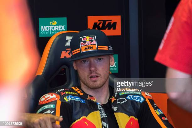 Bradley Smith of Great Britain and Red Bull KTM Factory Racing looks on in box during the qualifying practice during the MotoGP of San Marino...