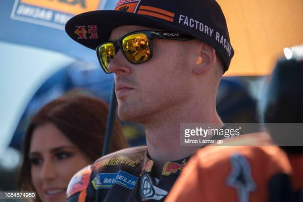 Bradley Smith of Great Britain and Red Bull KTM Factory Racing prepares to start on the grid during the MotoGP race during the MotoGP of Australia...