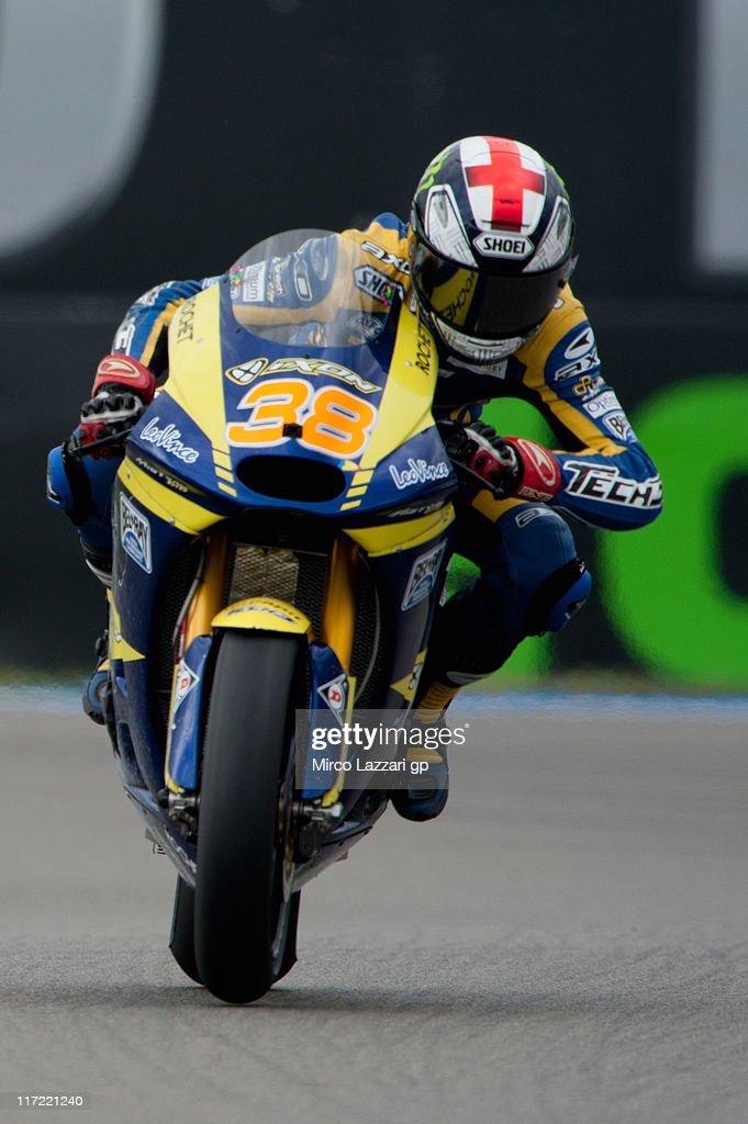 Bradley Smith of Great Britain and Tech 3 Racing heads down a straight during the qualifying practice of MotoGP of Netherlands at TT Circuit Assen on June 24, 2011 in Assen, Netherlands.
