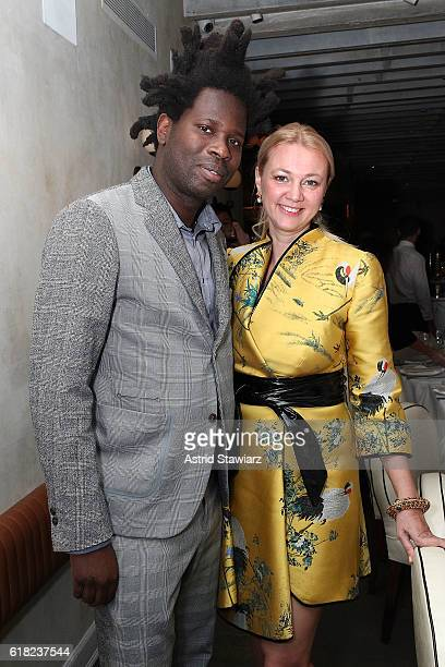 Bradley Theodore and Alisa Roever attends the Haute Living Celebrates The H1 Colorblock Collection Official Launch At Mamo NYC on October 25 2016 in...