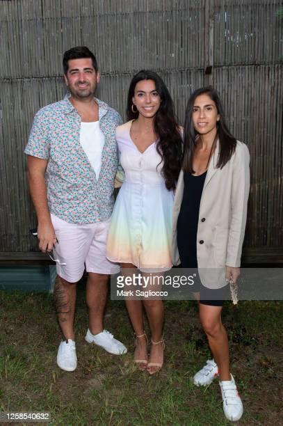 Bradley Tufano, Soraya Tufano and Katie Amato attend the Hamptons Magazine x The Chainsmokers VIP Dinner at The Barn at Nova's Ark on July 25, 2020...