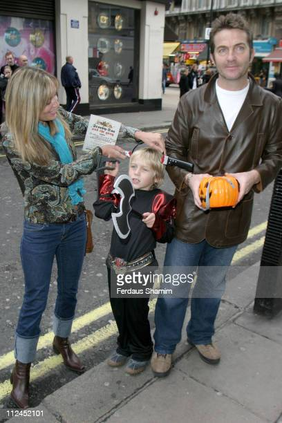 Bradley Walsh and family during Scooby Doo Halloween Party at Rex Cinema in London Great Britain