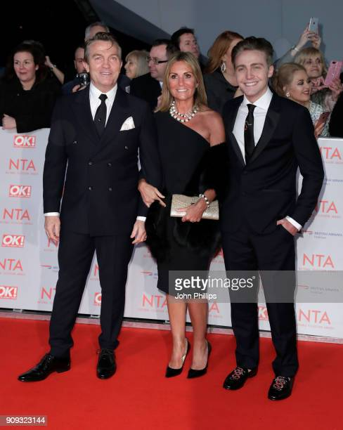 Bradley Walsh Donna Derby and Barney Walsh attend the National Television Awards 2018 at the O2 Arena on January 23 2018 in London England