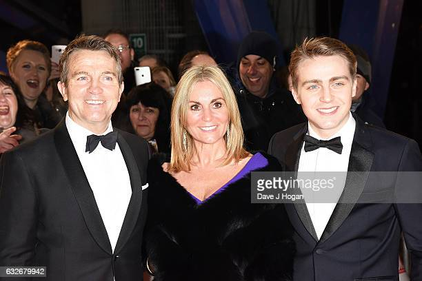 Bradley Walsh his wife and son Barney attend the National Television Awards at Cineworld 02 Arena on January 25 2017 in London England