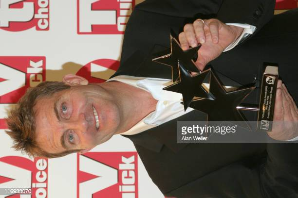 Bradley Walsh wins best soap actor during TV Quick and TV Choice Awards Press Room at The Dorchester in London Great Britain
