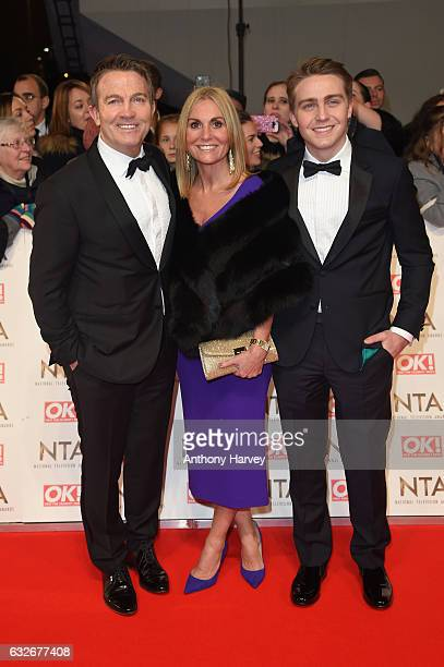 Bradley Walsh with his wife Donna Derby and their son Barney attends the National Television Awards on January 25 2017 in London United Kingdom
