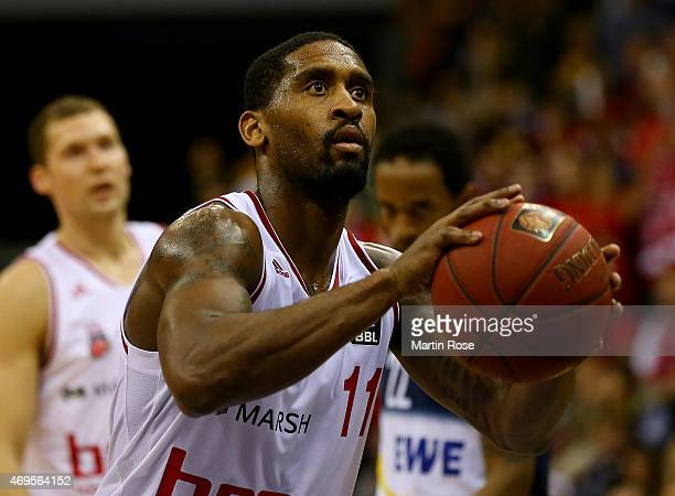 Bradley Wanamaker of Bamberg in action during the BEKO BBL Top Four final game between EWE Baskets Oldenburg and Brose Baskets Bamberg at Ewe Arena...