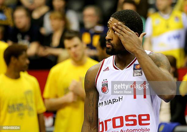 Bradley Wanamaker of Bamberg looks dejected after losing the BEKO BBL Top Four final game between EWE Baskets Oldenburg and Brose Baskets Bamberg at...