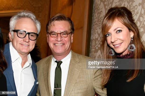 Bradley Whitford Aaron Sorkin and Allison Janney attend The BAFTA Los Angeles Tea Party at Four Seasons Hotel Los Angeles at Beverly Hills on January...